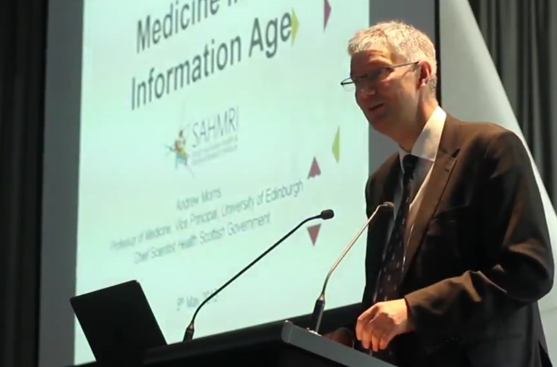 Dr Andrew Morris, Scottish Chief Scientist in Adelaide, May 2015